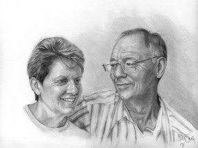 Alison-and-Barry-2008-Graphite-on-board-40-x50-cm